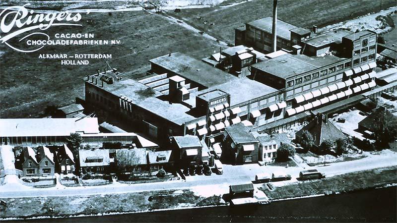 Kaart van Ringers Cacao en Chocoladefabriek