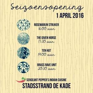 Stadsstrand de Kade - seizoensopening 2016