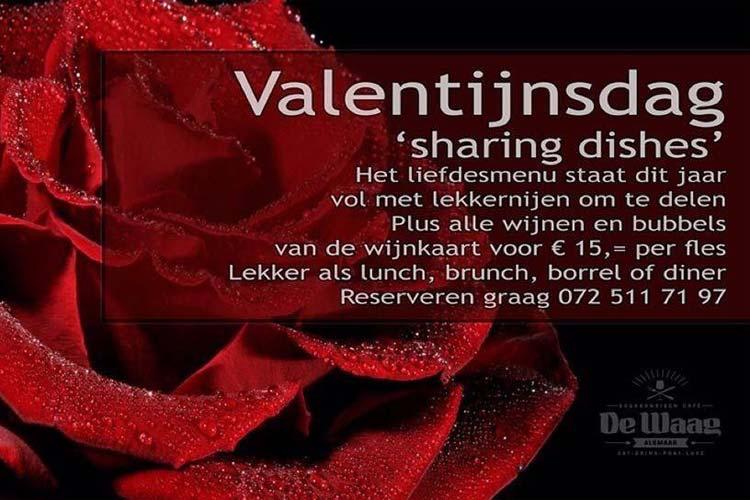 Valentijnsmenu de Waag