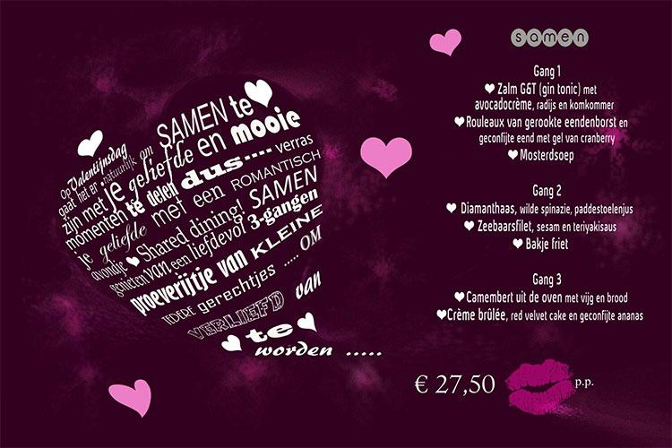 Valentijnsmenu Samen