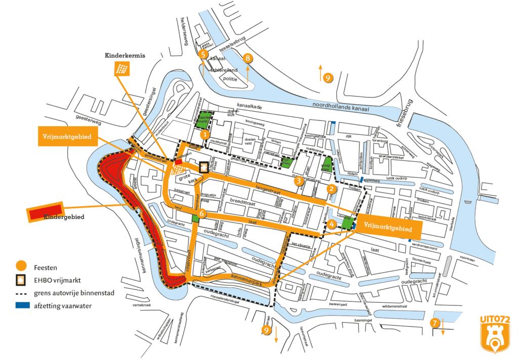Plattegrond Koningsdag Alkmaar 2016