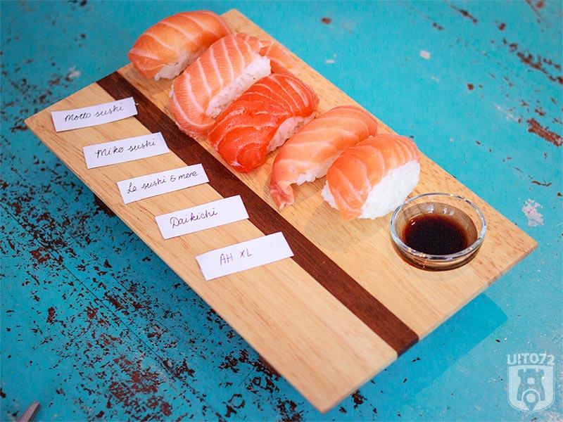Sushi test: nigiri