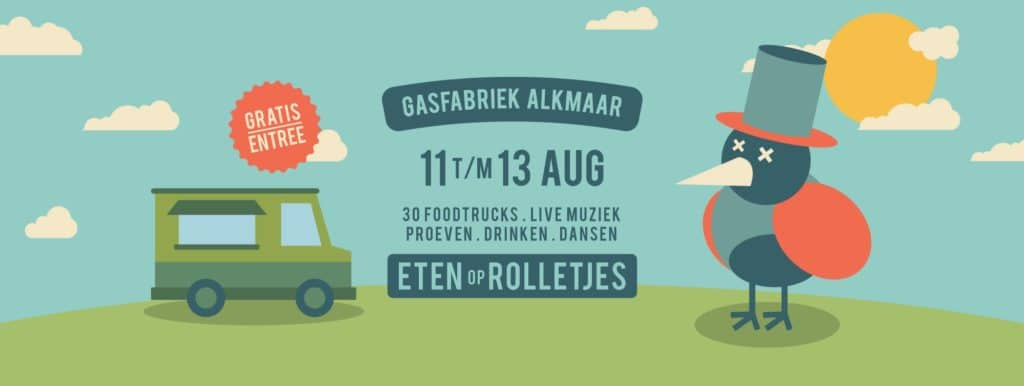 Eten op rolletjes @ Gasfabriek Alkmaar 2017