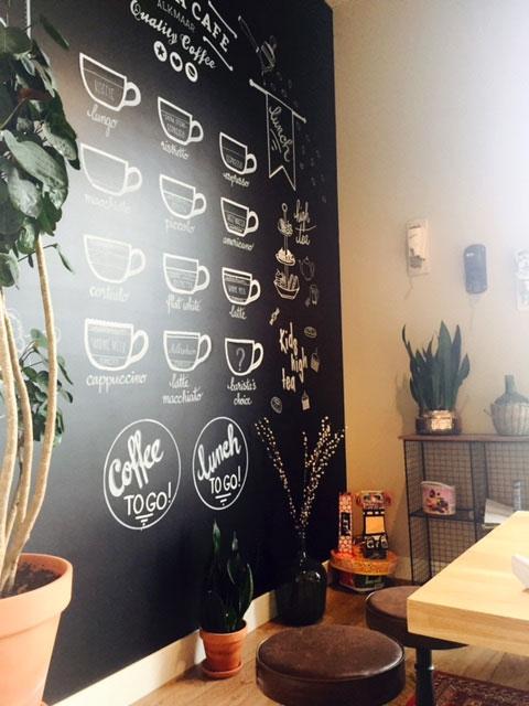 Barista Cafe Alkmaar: krijtbord