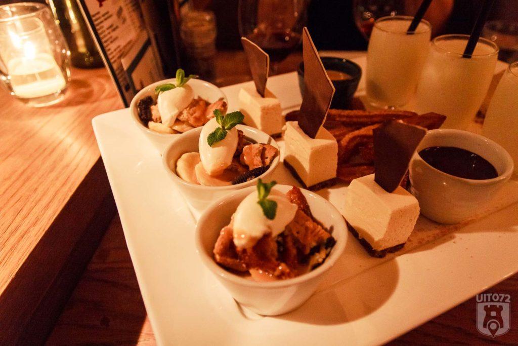 Dessert platter, verschillende nagerechten