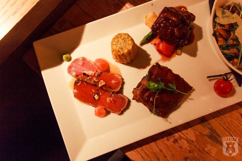 Tonijn, Spareribs, Steak