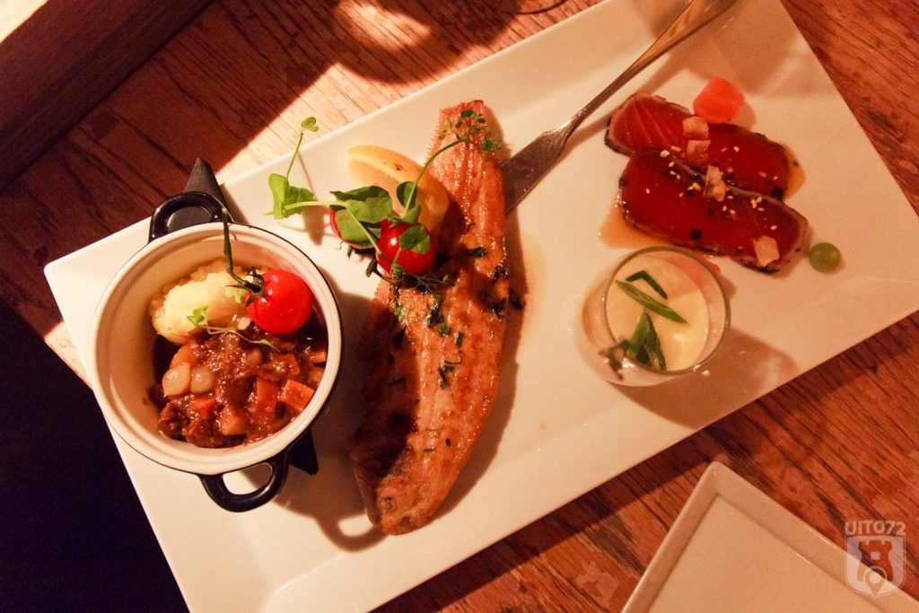 stoofpotje, sliptong, tonijn en kaasspoep
