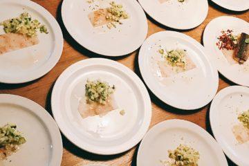 WijnSpijs Bergen 2018: borden bij Bourbon Room