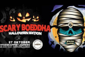 Scary boeddha halloween