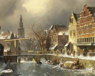 Het Verdronkenoord, Alkmaar, in de winter