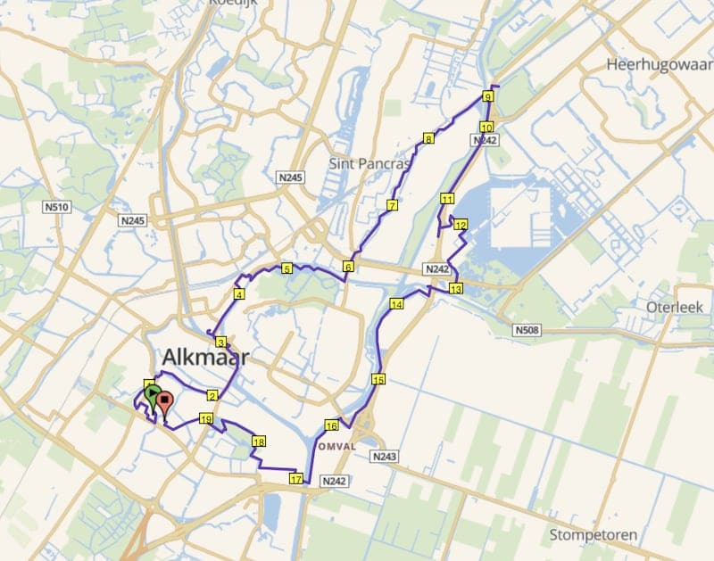 Rondje Alkmaar hafrlooproute
