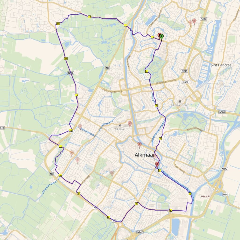 rondje alkmaar 18 km