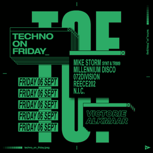 TOF - Techno on Friday - 6 september - podium victorie