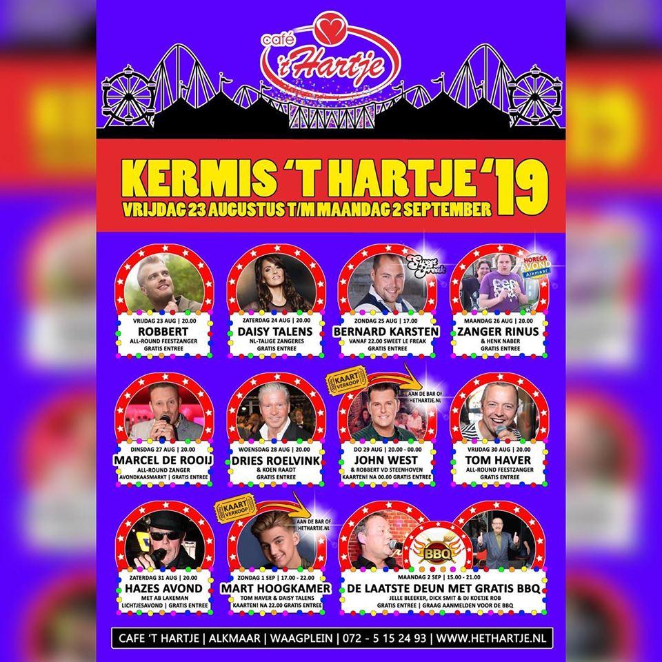 Kermis 't Hartje 2019 - programma