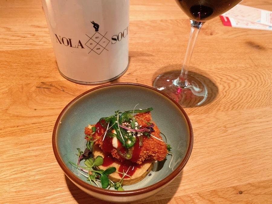 Okonomiyaki Chicken (Amusetour @ Nola Social)