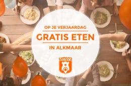 Op je verjaardag gratis eten in Alkmaar