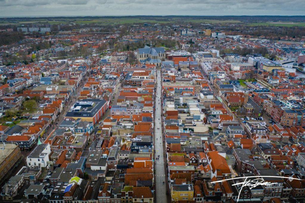 Binnenstad Alkmaar van boven