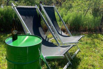 groene strand stoelen