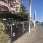 Bitemark terras aan het kanaal
