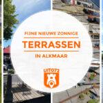 6× Nieuwe zonnige terrassen in Alkmaar