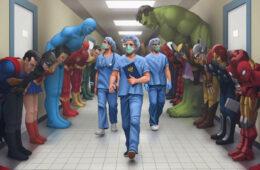 Superhelden en zorghelden
