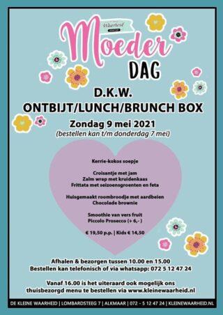 D.K.W. ontbijt/lunch/brunch Moederdag